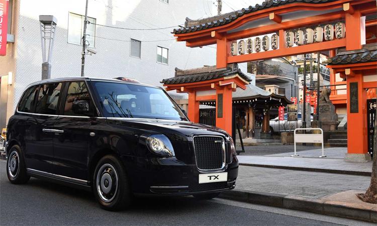 Taxi TX - một trong những biểu tượng của London, Anh - đã tới Tokyo. Ảnh: LEVC
