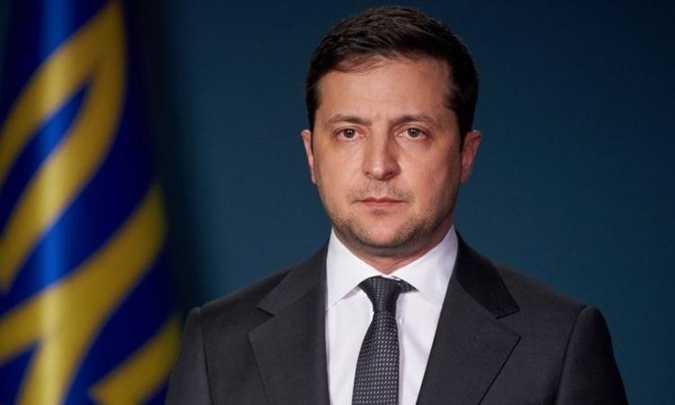 Tổng thống Ukraine Volodymyr Zelensky tại Kiev ngày 11/1. Ảnh: AFP.