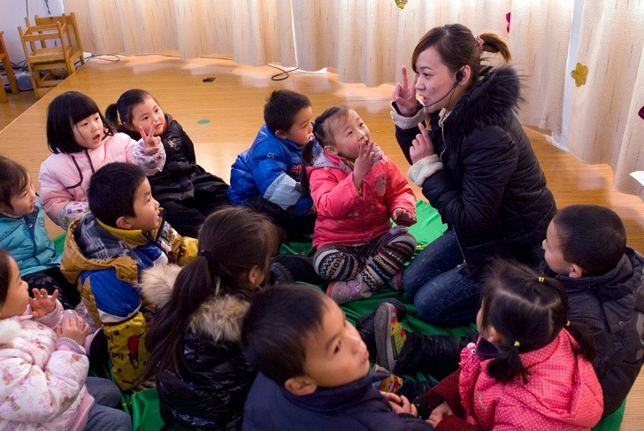 Một lớp học mẫu giáo ở Trung Quốc. Ảnh: Depositphotos.