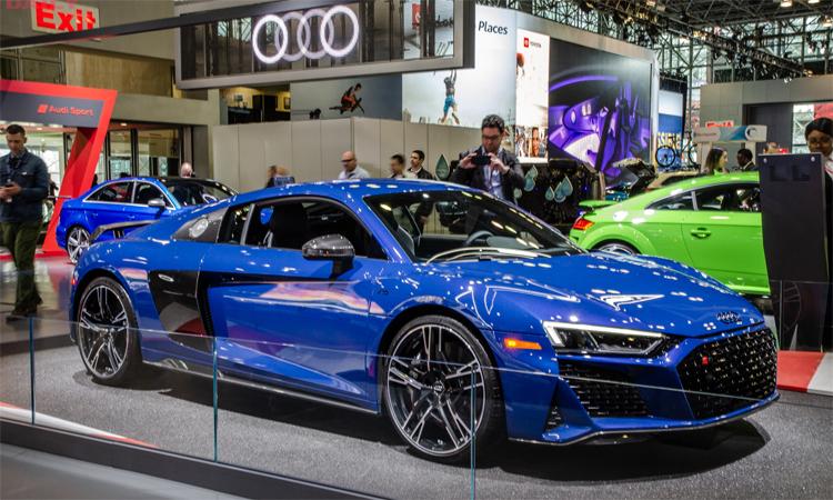 Siêu xe Audi R8 tại triển lãm New York 2019. Ảnh: QuattroDaily