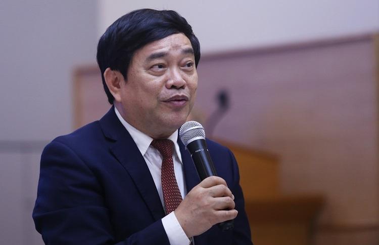 GS Trần Thọ Đạt, Hiệu trưởng trường ĐH Kinh tế quốc dân. Ảnh: Gia Chính