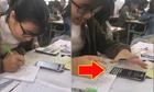 Nữ sinh ảo thuật biến smartphone thành máy tính trong nháy mắt