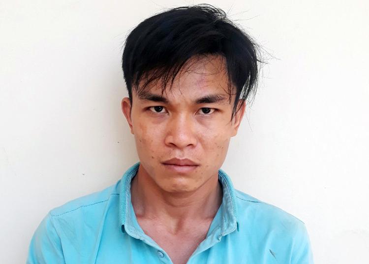 Nguyễn Chí Tâmtại cơ quan công an. Ảnh: Công an Trà Vinh cung cấp.
