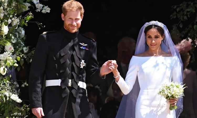 Vợ chồng Hoàng tử Harry trong đám cưới ngày 19/5/2018. Ảnh: Reuters.