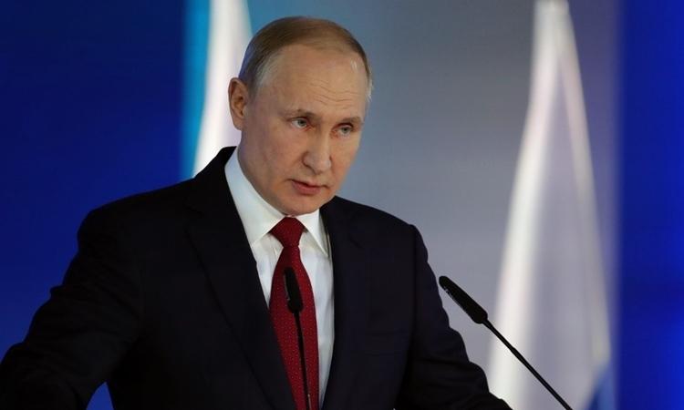 Tổng thống Nga Putin phát biểu trước quốc hội tại Moskva ngày 15/1. Ảnh: AFP