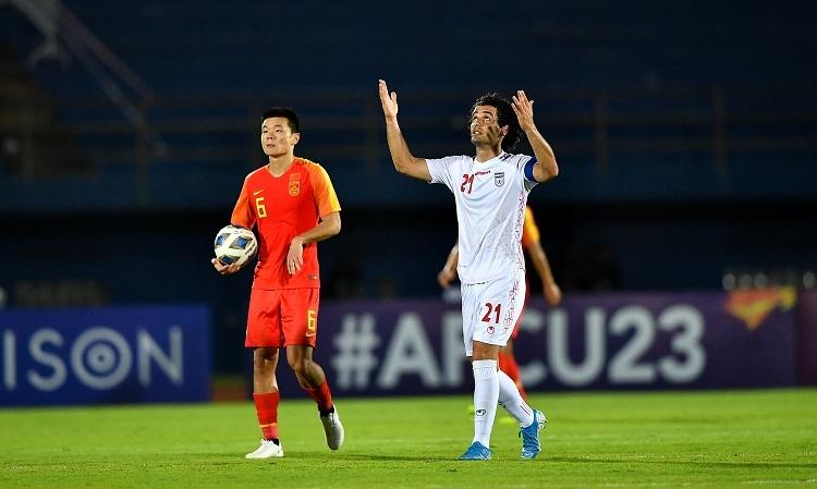 Bàn thắng củaNoorafkan không đủ để giúp Iran đi tiếp. Ảnh: AFC.