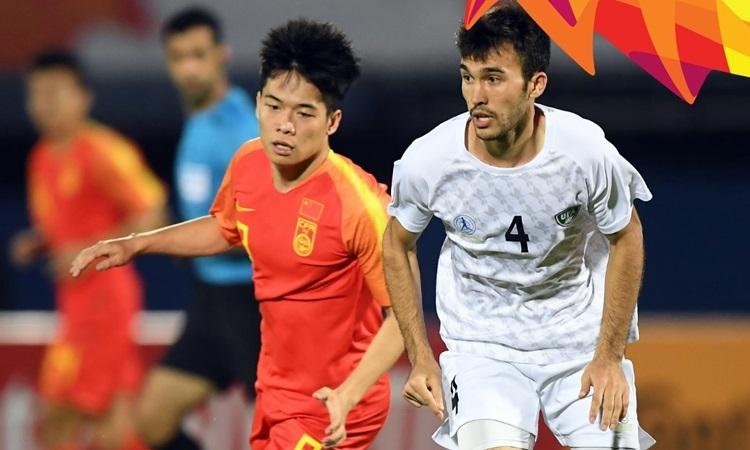 Duan Liuyu (trái) là cầu thủ Lỗ Năng Sơn Đông được đánh giá cao nhất ở U23 châu Á 2020. Ảnh: AFC.