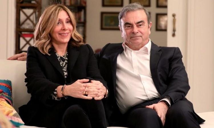 Vợ chồng Carlos Ghosn trả lời phỏng vấn Reuters ngày 14/1 ở Beirut. Ảnh: Reuters.