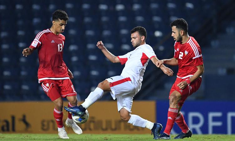 Jordan và UAE đều khát chiến thắng, nhưng sau cùng chấp nhận chia điểm. Ảnh: AFC.