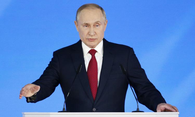 Tổng thống Putin đọc Thông điệp Liên bang hôm 15/1. Ảnh: AP.