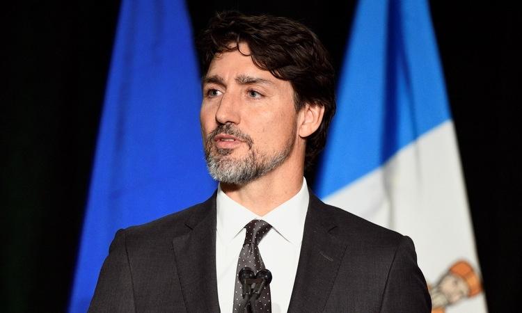 Thủ tướng Canada Justin Trudeau trong buổi tưởng niệm nạn nhân tại thành phố Edmonton hôm 12/1. Ảnh: Reuters.