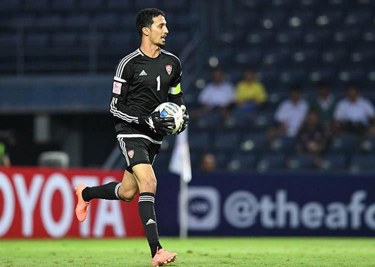 Thủ mônMohammed Al Shamsi thể hiện tốt, giúp UAE chưa phải nhận bàn thua nào tại giải U23 châu Á 2020.