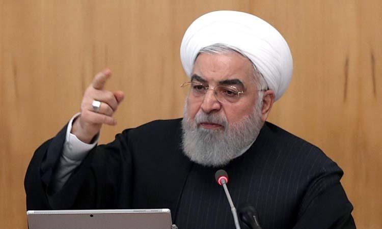 Tổng thống Iran Hassan Rouhani chủ trì cuộc họp nội các ở Tehran hôm 15/1. Ảnh: AFP.