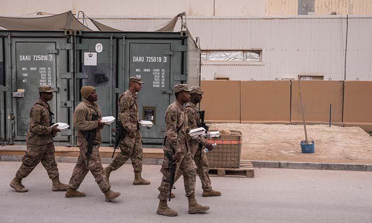 Lính Mỹ tại căn cứ không quân Ayn al Asad ở Iraq ngày 13/1. Ảnh: NYTimes.