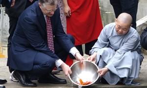 Đại sứ Mỹ thả cá chép
