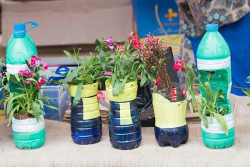 Học sinh BVIS Hà Nội cũng có những hoạt động thiết thực để bảo vệ môi trường như đổi giấy và pin đã sử dụng để lấy cây xanh, hay không sử dụng túi ni lông và ống hút nhựa trong chương trình.