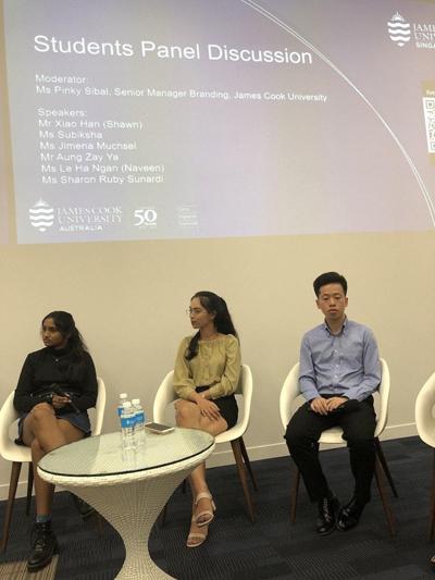 Sinh viên Du học INEC được chọn làm đại diện sinh viên Việt Nam tại Đại học James Cook Singapore tham dự Students Panel Discussion của trường