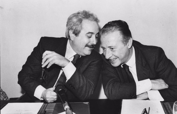 Giovanni Falcone and Paolo Borsellino in Italy in March 1992. Photo: Commons.