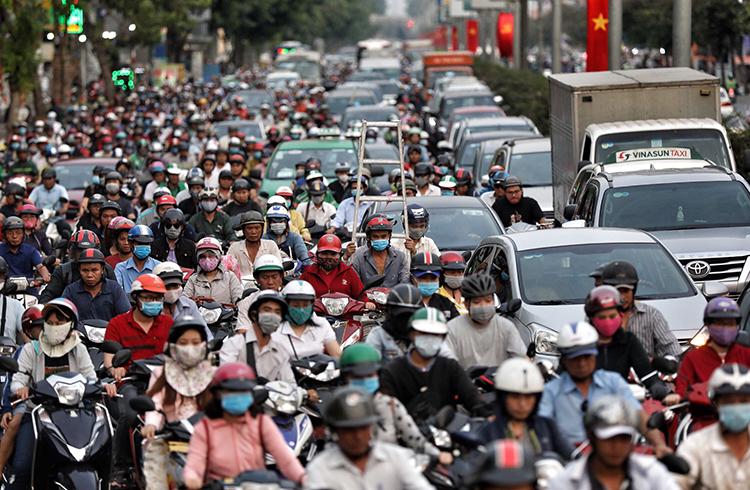 Kẹt xe khắp Sài Gòn - VnExpress