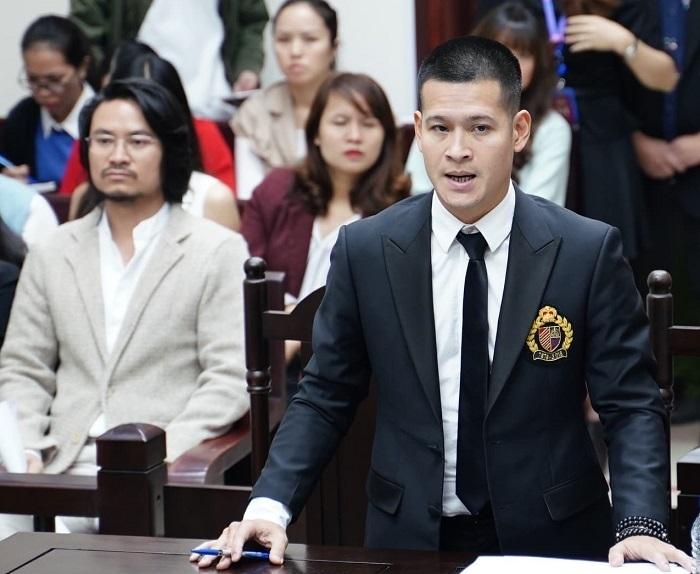 Đạo diễn Việt Tú tại phiên tòa phúc thẩm mở giữa tháng 11/2019. Ảnh: H.N.