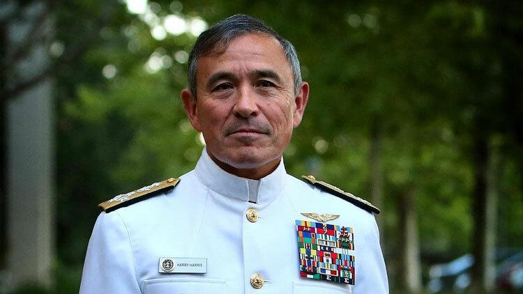 Harris khi còn là đô đốc, tư lệnh Bộ chỉ huy Thái Bình Dương của hải quân Mỹ. Ảnh: Reuters.