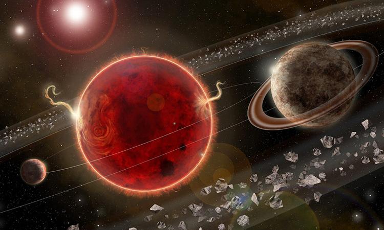 Đồ họa mô phỏnghệ hành tinh Proxima Centauri. Ảnh: CNN.
