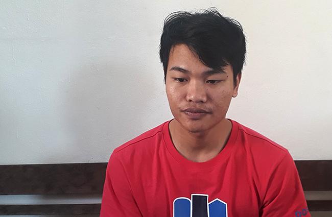 Lê Doãn Nguyễn Trình tại cơ quan điều tra. Ảnh: C.A.