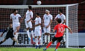 Hàn Quốc thắng Jordan phút chót Sea Games 2019 - VnExpress