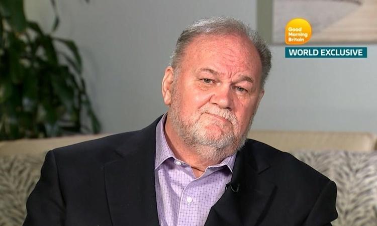 Thomas Markle trong một cuộc phỏng vấn hồi năm 2018. Ảnh: Reuters.