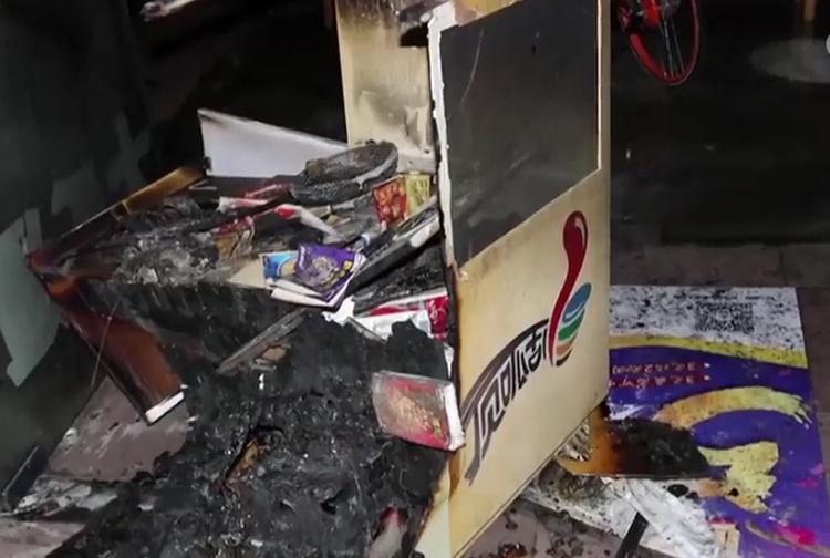 Đồ đạc bị cháy rụi sau đám cháy.