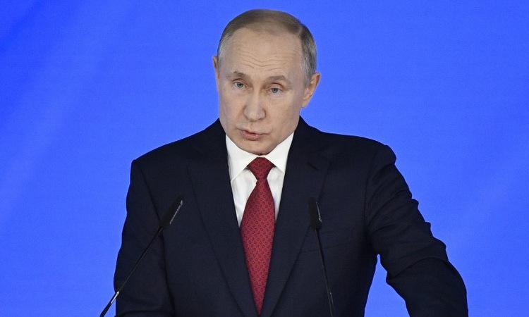 Putin đọc Thông điệp Liên bang hôm 15/1. Ảnh: AFP.