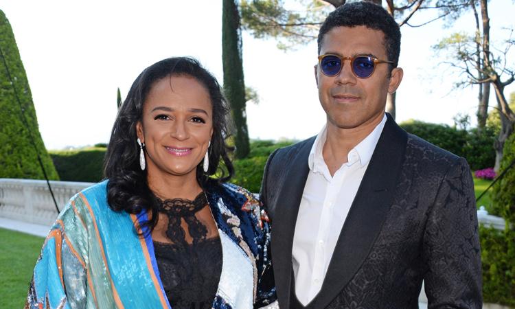 Isabel dos Santos (trái) và chồng Sindika Dokolo ở Cannes, Pháp năm 2018. Ảnh: The Guardian.