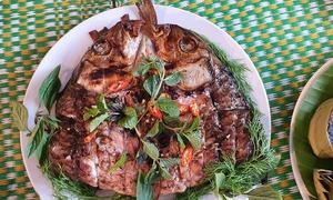 Món cá nướng Tây Bắc Pa pỉnh tộp