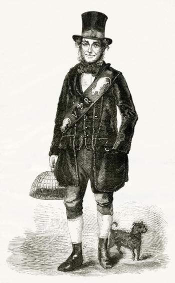 Tranh vẽ Jack Black vào năm 1851. Ảnh: Perseus Digital Library.