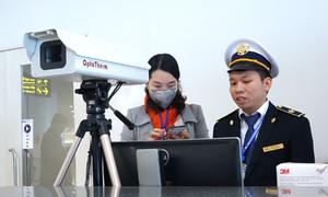 Sân bay đặt máy đo thân nhiệt phòng virus viêm phổi lạ