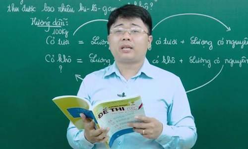 Thầy Hoàng Văn Mạnh, tác giả cuốn Chinh phục đề thi vào lớp 6 môn toán.