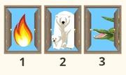Bạn chọn cánh cửa nào để thoát ra ngoài an toàn?