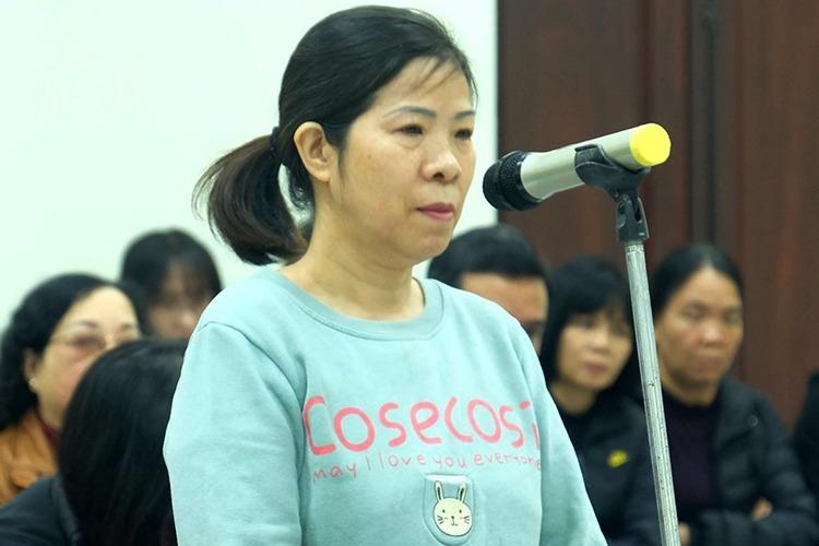 Bà Nguyễn Bích Quy trong phiên sơ thẩm mở ngày 14/1. Ảnh: Nam Anh.