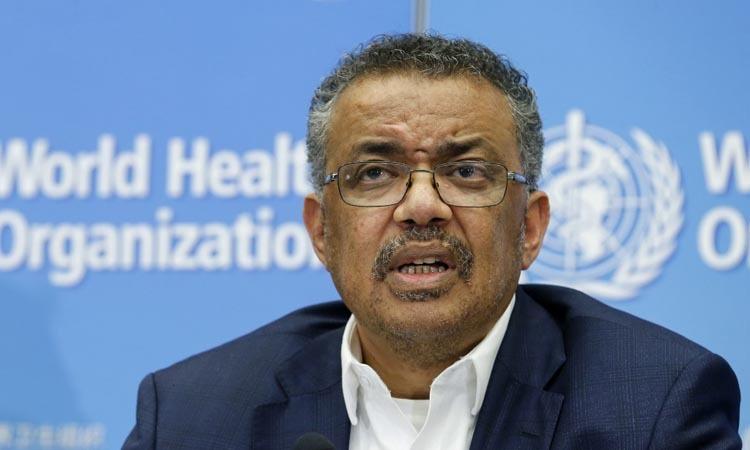 Giám đốc WHO Tedros Adhanom Ghebreyesus phát biểu trong cuộc họp báo tại Geneva, Thụy Sĩ hôm 22/1. Ảnh: AFP.