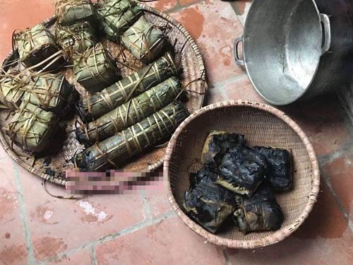Bánh chưng cháy đen khi luộc - 1