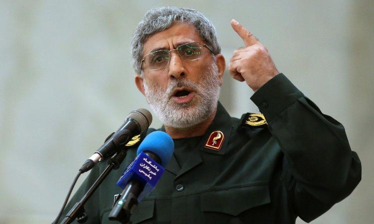 Tướng Ghaani phát biểu tại Tehran hồi năm 2017. Ảnh: AP.