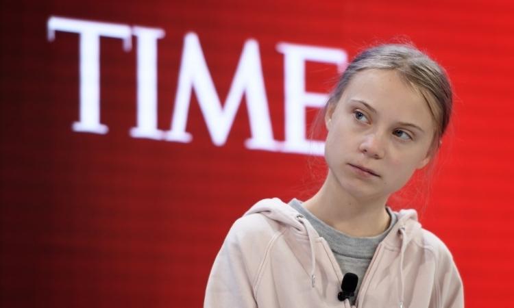 Greta Thunberg tại Diễn đàn Kinh tế Thế giới ở Davos, Thụy Sĩ hôm 21/1. Ảnh: AFP.