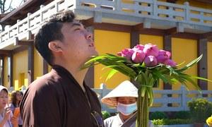 Người dân mua hoa giá đắt gấp đôi đi chùa