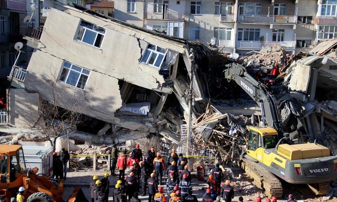 Thổ Nhĩ Kỳ hoang tàn sau động đất