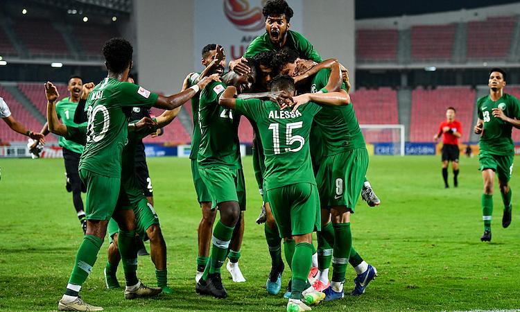 Hàng thủ là điểm tựa của Saudi Arabia trên hành trình vào chung kết. Ảnh: AFC.