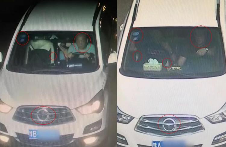 Hai chiếc xe tại hai thời điểm có nhiều điểm trùng khớp. Ảnh: CCTV.