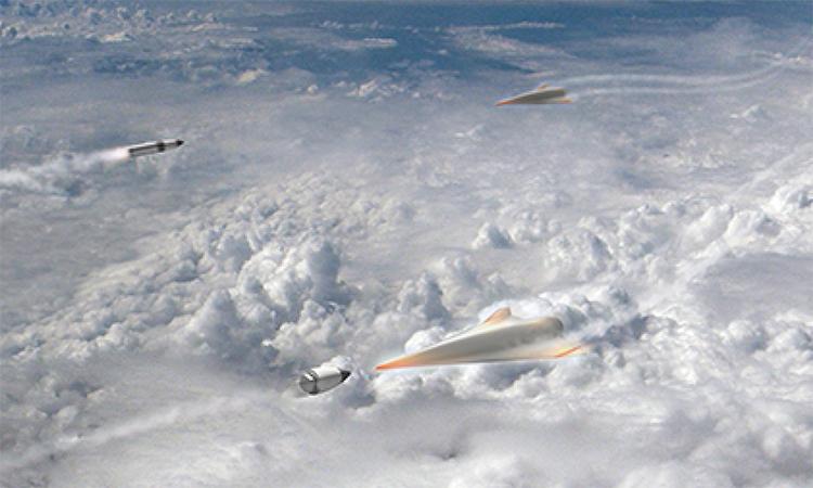 Mô phỏng khí tài đánh chặn vũ khí siêu vượt âm. Đồ họa: DARPA.