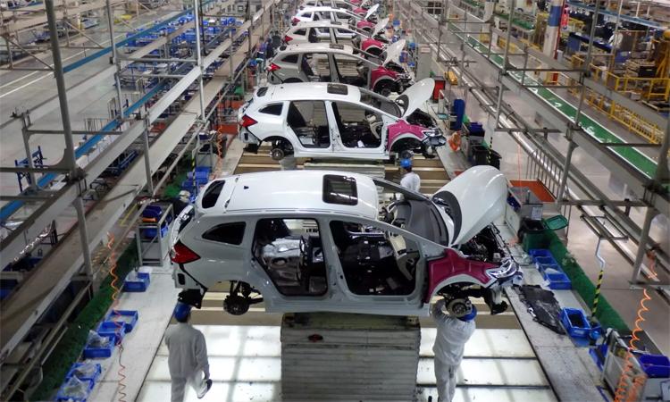 Một nhà máy ôtô của Honda tại Vũ Hán. Ảnh: Nikkei