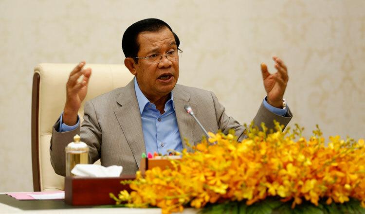 Thủtướng Campuchia Hunsen phát biểu ở Phnom Penh hôm 30/1