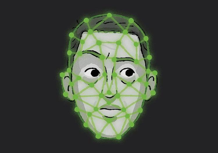 Phần mềm được dạy cách đo đạc những điểm mốc trên khuôn mặt. Ảnh: California Sunday.